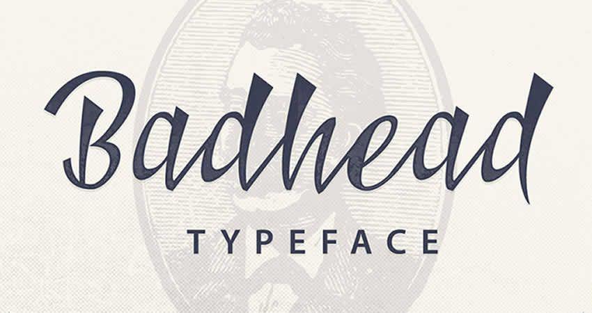 Badhead Serif freie Schriftfamilie Typografie