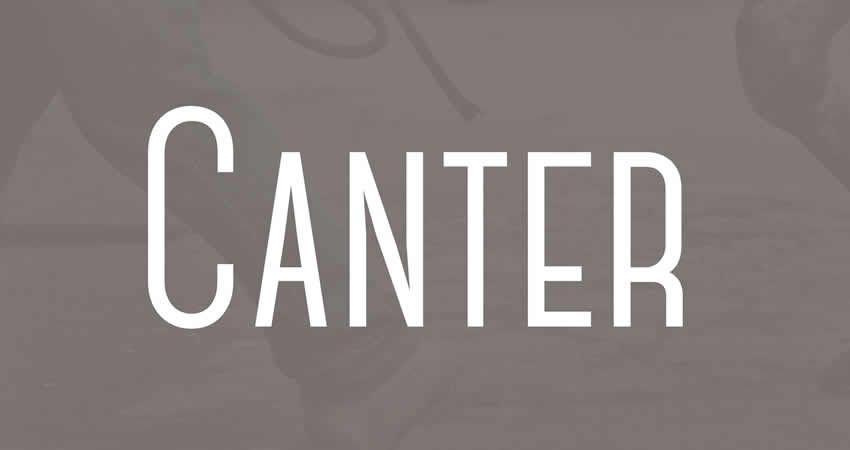 Canter sans serif free Schriftart Schriftfamilie