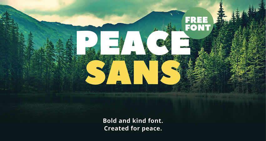 Peace sans serif free Schriftart Schriftfamilie