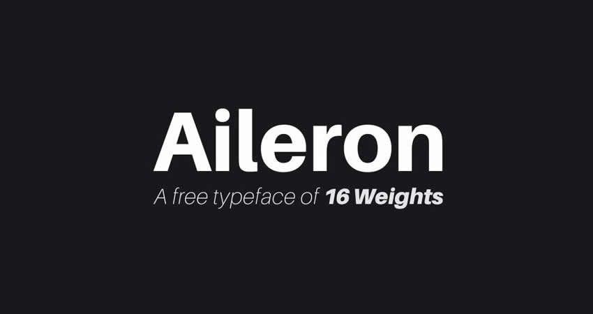 Aileron Sans Serif Schriftart freie Familienschrift