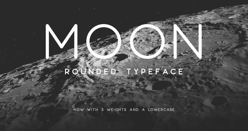 Moon Rounded Sans freie Schrift