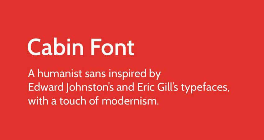 Cabin sans serif free Schriftart Schriftfamilie