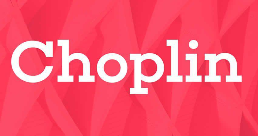 Choplin Slab Serif Schriftart freie Schrift