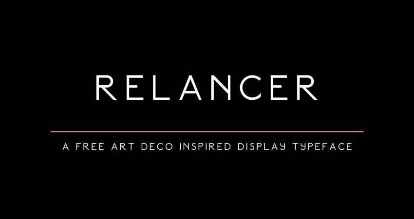 Relancer Art Deco Display ohne serifenfreie Schriftart