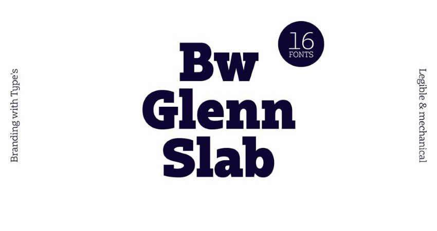 Bw Glenn Slab Schriftfamilie