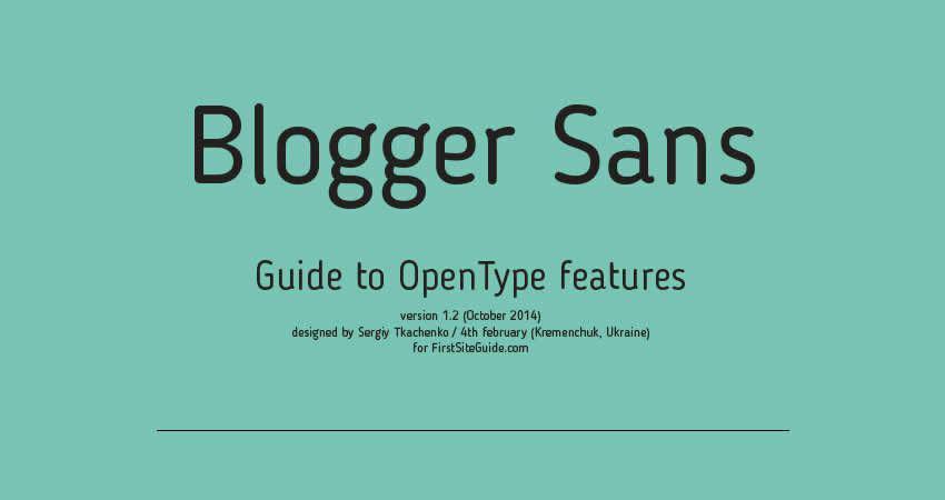 Blogger ohne serifenlose Schriftart
