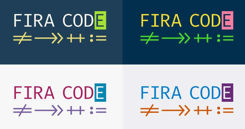 FiraCode Monospaced Free Mono Font Family Schriftcode