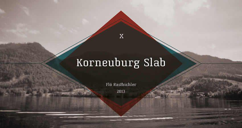 Korneuburg Platte frei Schriftfamilie Schriftart