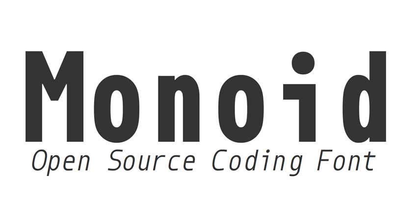 Monospaced Monoid Codierung freien Schriftfamilie Typografie Quellcode