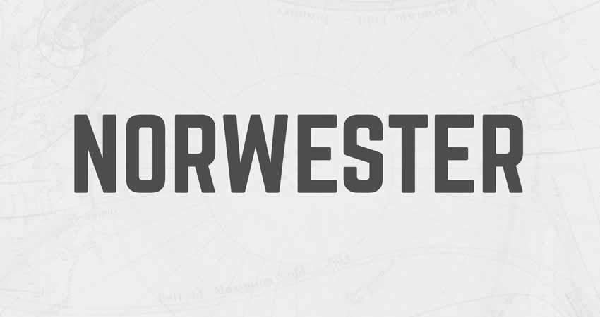 Norwester Condensed Geometric ohne serifenfreie Schriftfamilie