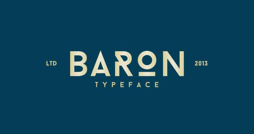 Baron Geometrical ohne serifenfreie Schrift der Schriftfamilie