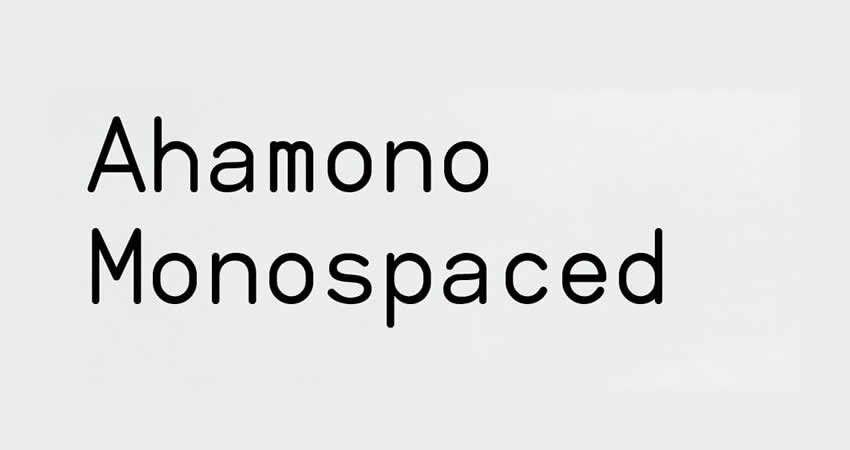 Ahamono monospaced mono freie Schriftfamilie Schriftartcode
