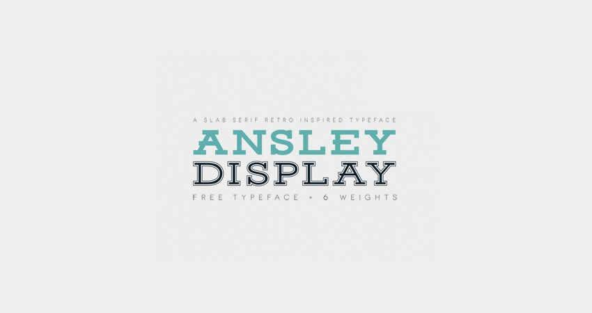 Ansley Display plattenfreie Schriftart