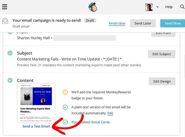 campagne de test mailchimp - définition de la délivrabilité des e-mails