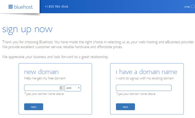 compra de dominio bluehost