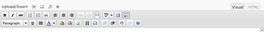 Opciones del fregadero de la cocina del editor visual de WordPress