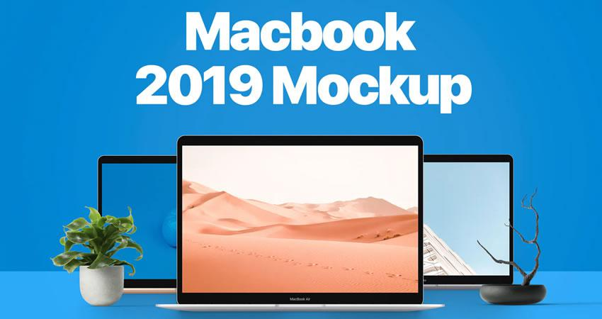 MacBook 2019 Mockup Ücretsiz MacBook Mockup Şablonu PSD Photoshop