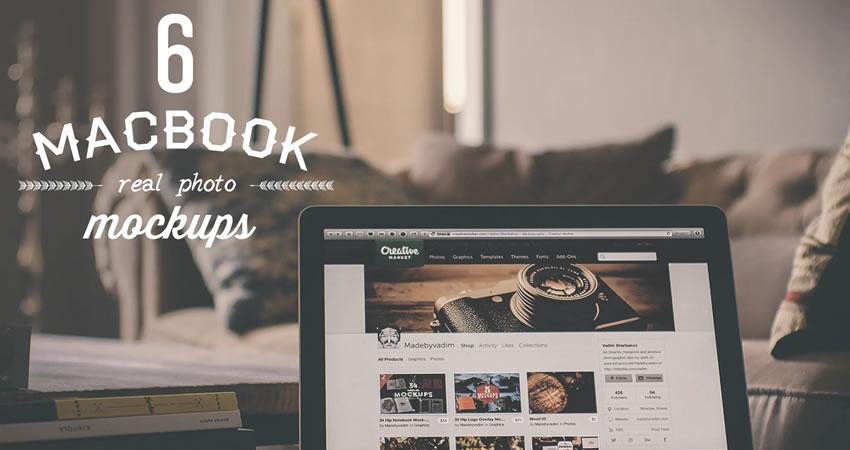 6 Macbook Mockup ücretsiz macbook mockup şablonu psd photoshop