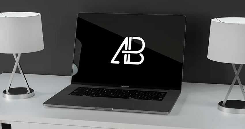 Ücretsiz Modern Macbook Pro Macbook Maketi Şablonu psd photoshop