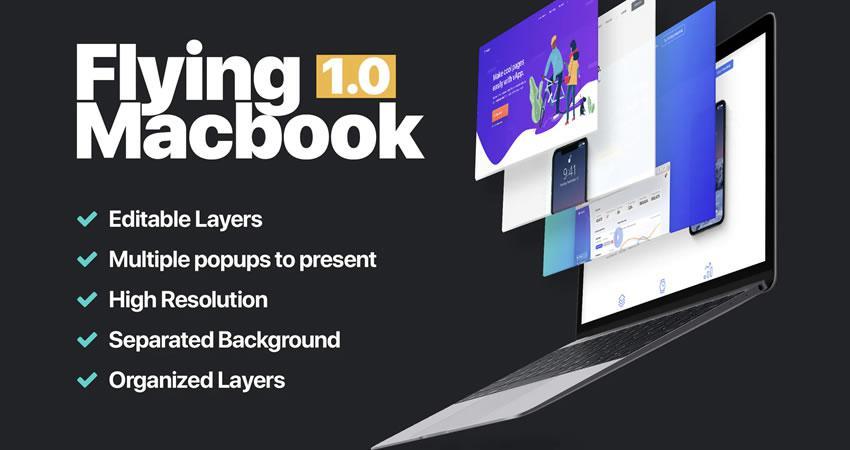 MacBook Mockup 1.0 ücretsiz macbook psd photoshop mockup şablonu