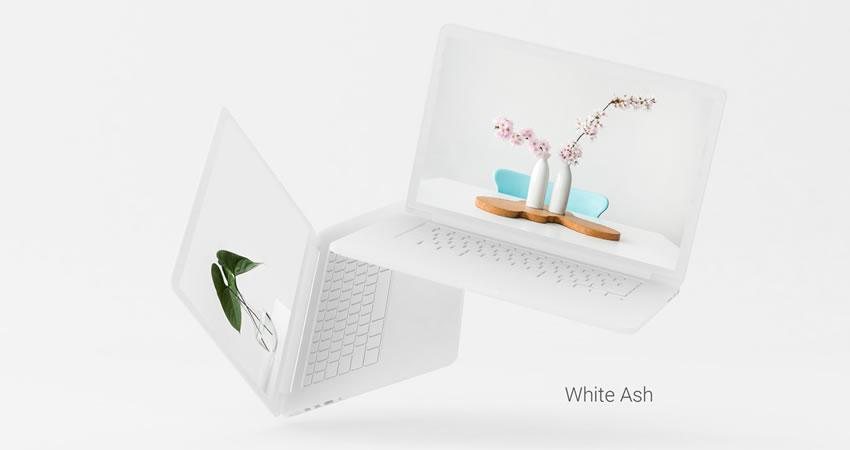 Minimal MacBook Pro ücretsiz macbook mockup şablon photoshop psd
