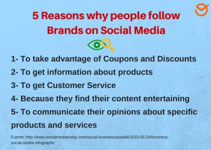 """5-Razones-por qué-people-follow-Brands-on-Social-Media """"width ="""" 466 """"height ="""" 330 """"srcset ="""" https://postcron.com/en/blog/wp-content/uploads/2016 /02/5-Reasons-why-people-follow-Brands-on-Social-Media.png 419w, https://postcron.com/en/blog/wp-content/uploads/2016/02/5-Reasons- why-people-follow-Brands-on-Social-Media-300x213.png 300w """"tamaños ="""" (ancho máximo: 466px) 100vw, 466px """"/></p> <p>Sin embargo, en función de sus recursos, es posible que no pueda contratar a alguien que se dedique exclusivamente a responder preguntas de los usuarios. ¡Está bien! Hay una manera de automatizar su respuesta a las preguntas frecuentes y <b><i>guardar las respuestas en Facebook</i></b>  para usar cuando lo necesite.</p><div class='code-block code-block-5' style='margin: 8px auto; text-align: center; display: block; clear: both;'> <div data-ad="""