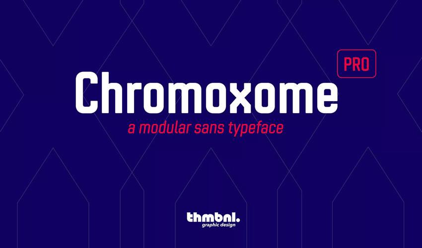 Xromoxome Pro pulsuz minimal şrift dizaynı tipaj mətbəəsi