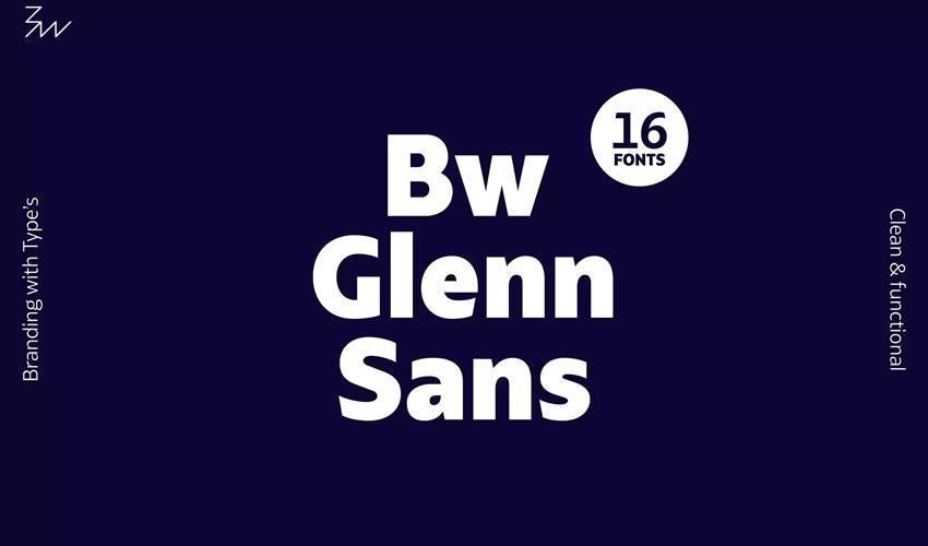 Bw Glenn Sans pulsuz minimalist mətbəə tipajı