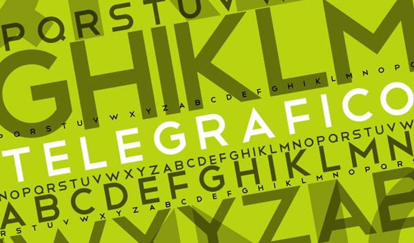 Sans-Serif teleqrafı minimal tipli pulsuzdur
