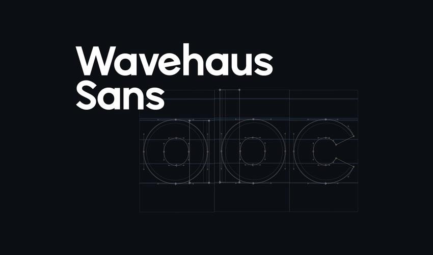 Wavehaus Sans pulsuz minimal dizayn dizaynı tipografi tipografiyası