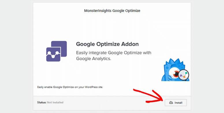 Complemento de Google Optimize