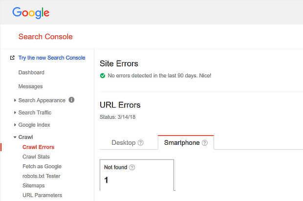 Ver errores de SEO móvil con Google Search Console