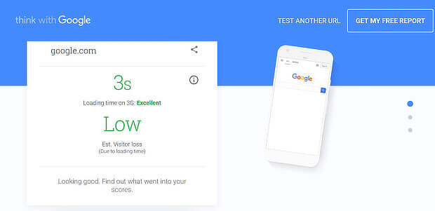 informe de velocidad de página móvil de google