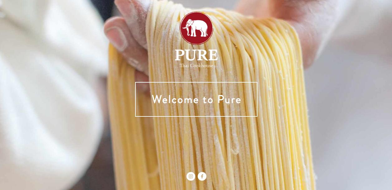 diseño puro del sitio web del restaurante