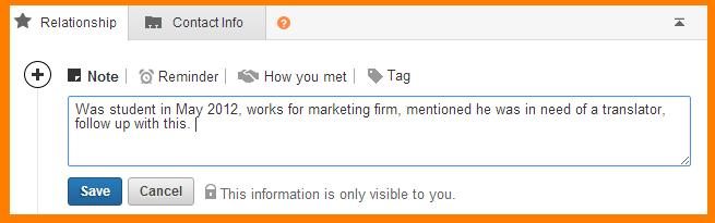 Fonctionnalités LinkedIn
