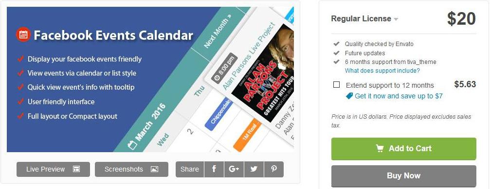 calendario de eventos de fb