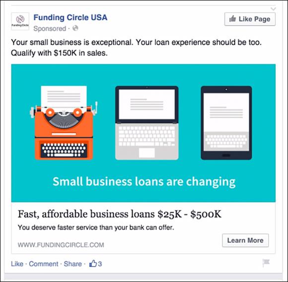 gasto en anuncios de Facebook