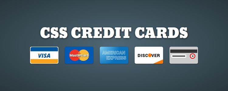 Symboles de carte de crédit qui répondent au CSS pur