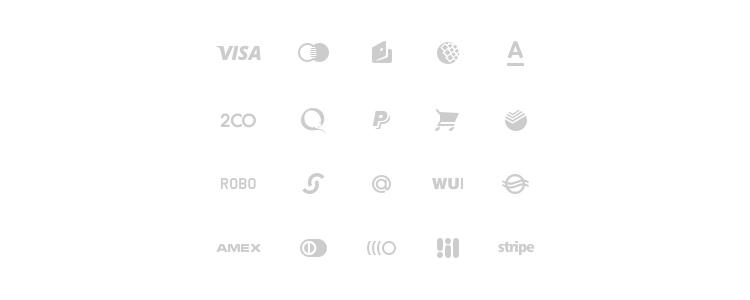 Ensemble de symboles de glyphe de paiement psd