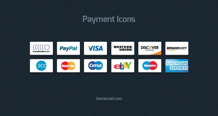 Symboles de paiement en ligne psd