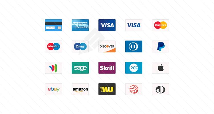 Carte de crédit psd png icônes web