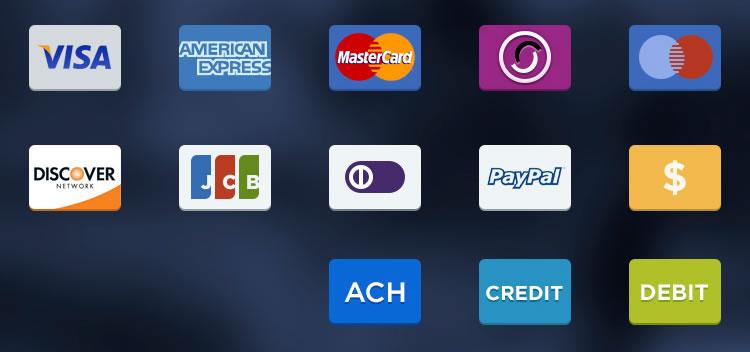 Symboles d'option de paiement gratuit psd