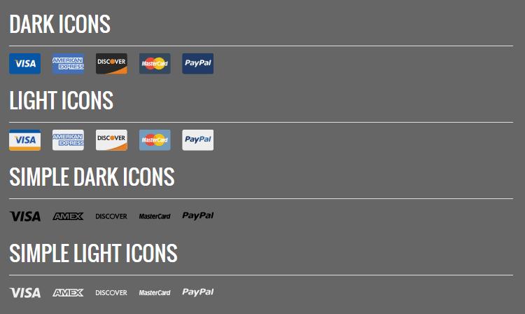 Symboles de carte de crédit SVG conçus gratuitement