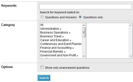 LinkedIn cavabları üçün geniş axtarış