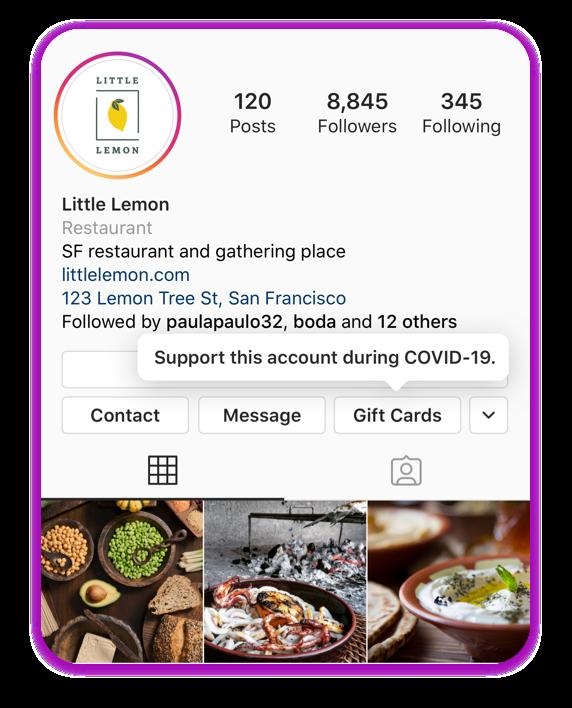 Instagram    có nhãn thẻ quà tặng mới cho thẻ quà tặng và giao hàng