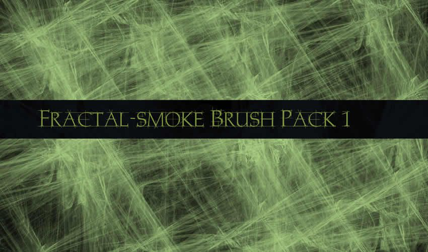 Fractal Smoke Adobe Photoshop PS Brush Brush abr Pack gratuit