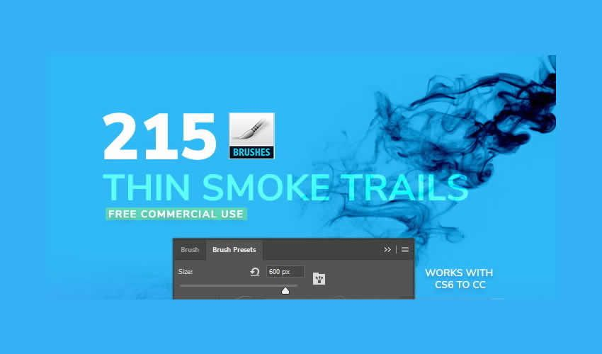 Thin Smoke Adobe Photoshop PS Brush Brush abr Pack gratuit