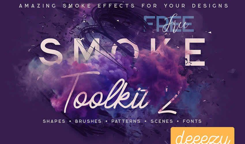 Ensemble d'outils de fumée Adobe Photoshop PS Brush Brush abr abr Package Kit