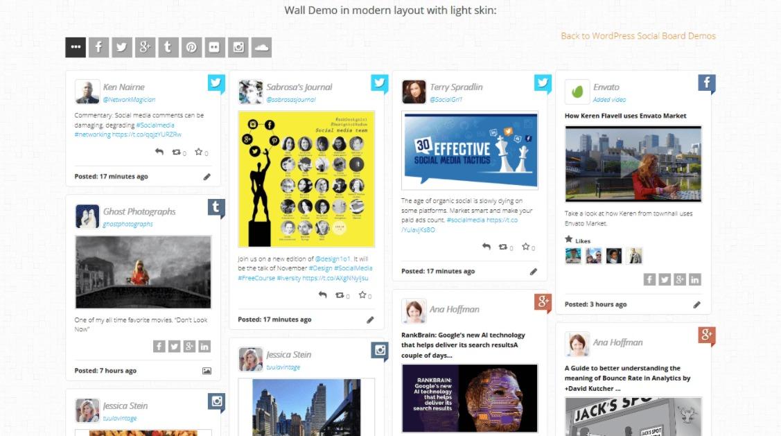 """WordPress-social-board-screenshot """"width ="""" 1127 """"height ="""" 629 """"srcset ="""" https://blogging-techies.com/wp-content/uploads/2020/04/1587298271_873_5-de-los-mejores-complementos-de-WordPress-Instagram-Widget-2020.jpg 1127w, https://themegrill.com/blog/wp-content/uploads/2017/11/WordPress-social-board-screenshot-300x167.jpg 300w, https://themegrill.com/blog/wp-content/uploads /2017/11/WordPress-social-board-screenshot-768x429.jpg 768w, https://themegrill.com/blog/wp-content/uploads/2017/11/WordPress-social-board-screenshot-1024x572.jpg 1024w """"tamaños ="""" (ancho máximo: 1127px) 100vw, 1127px """"></p> <h4>Características clave</h4> <ul> <li>Diseño moderno y receptivo.</li> <li>Personalizador de fondo completamente funcional.</li> <li>Opción de usar alimentaciones giratorias.</li> <li>Infinitas opciones de desplazamiento.</li> <li>Fácil colocación y gestión de anuncios.</li> <li>Compatible con navegador cruzado.</li> </ul> <p><strong>Precio- $ 19 </strong></p> </p> <h3>5. Instagram Feed WD (Gratis + Premium)</h3> <p><img class="""