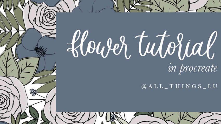 Guida ai fiori nell'app Procreate